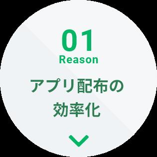 01Reason アプリ配布の効率化