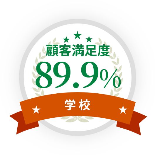 顧客満足度89.9%(学校)